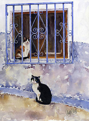 Painting Rights Managed Images - Cats Of Terque Royalty-Free Image by Margaret Merry