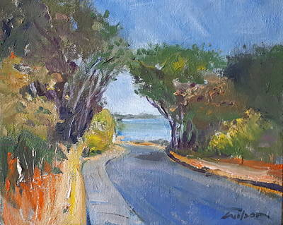 Painting - Cattle Point Trees by Ron Wilson