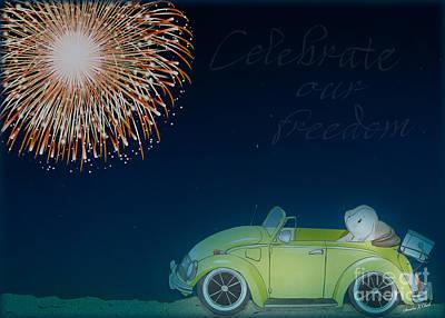 Transportation Digital Art - Celebrate the Fourth by Sandra Clark
