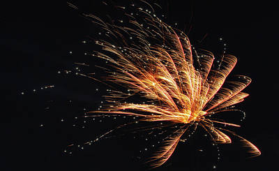 Abstract Stripe Patterns - Celebration Fireworks by Stephen Stookey