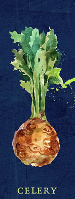 Mixed Media Royalty Free Images - Celery Root Royalty-Free Image by Brandi Fitzgerald
