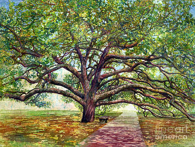 Painting Royalty Free Images - Century Tree Royalty-Free Image by Hailey E Herrera
