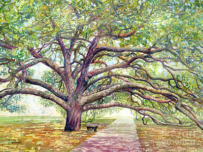 Ethereal - Century Tree-pastel colors by Hailey E Herrera