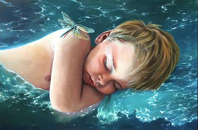 Painting - Cerulean Slumber by Melanie Stimmell Van Latum