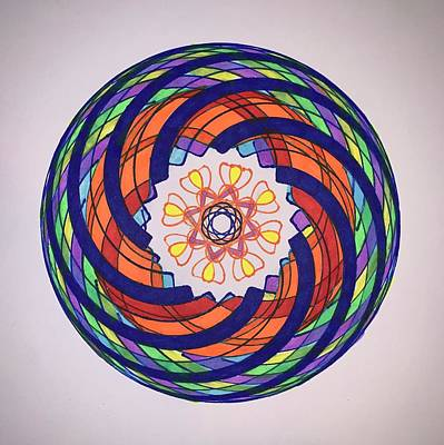 Drawing - Chakra Series #9 by Steve Sommers