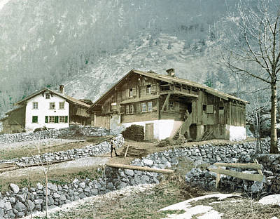 Royalty-Free and Rights-Managed Images - Chalet, Zurich, Switzerland 1890. by Joe Vella