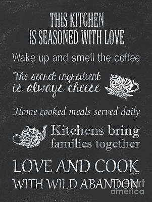Royalty-Free and Rights-Managed Images - Chalkboard Kitchen Typography by Debbie DeWitt