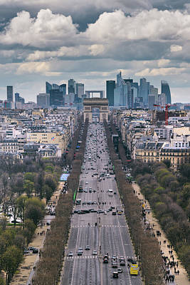 Royalty-Free and Rights-Managed Images - Champs Elysees Color by Darren White