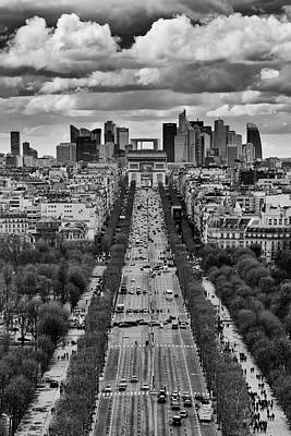 Royalty-Free and Rights-Managed Images - Champs Elysees Mono by Darren White