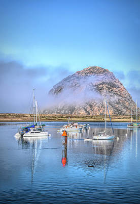 Angels And Cherubs - Channel Marker in Morro Bay by Barbara Snyder
