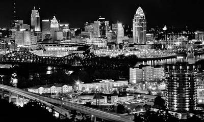 David Bowie - Charcoal Covington and Cinci Nightscape by Frozen in Time Fine Art Photography
