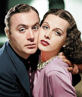 Sheep - Charles Boyer and Hedy Lamarr by Stars on Art
