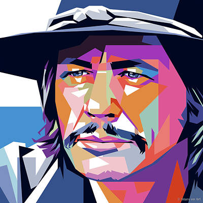Modern Sophistication Line Drawings - Charles Bronson by Stars on Art