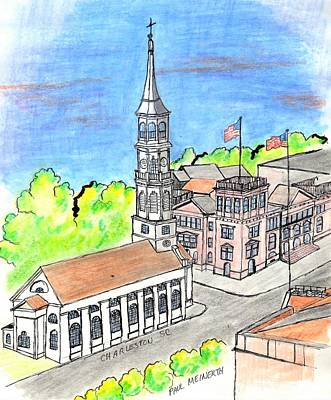 Drawings Royalty Free Images - Charleston Virginia Royalty-Free Image by Paul Meinerth
