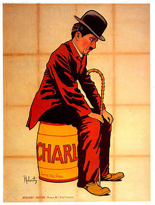 Royalty-Free and Rights-Managed Images - Charlie Chaplin poster 1917 by Stars on Art