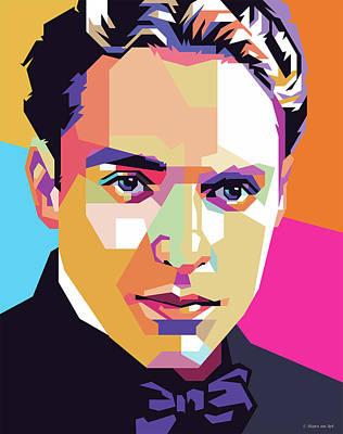 Digital Art - Charlie Chaplin by Stars on Art