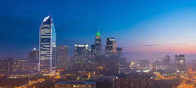 Pittsburgh According To Ron Magnes - Charlotte morning skyline by Serge Skiba