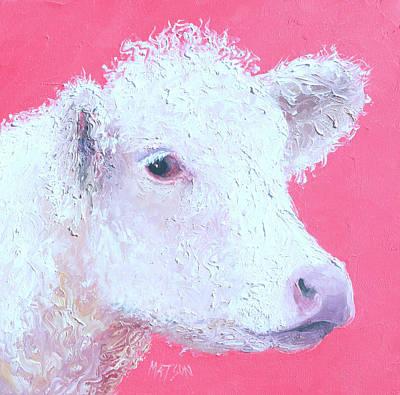 Rose - Charolais calf, Rosie by Jan Matson