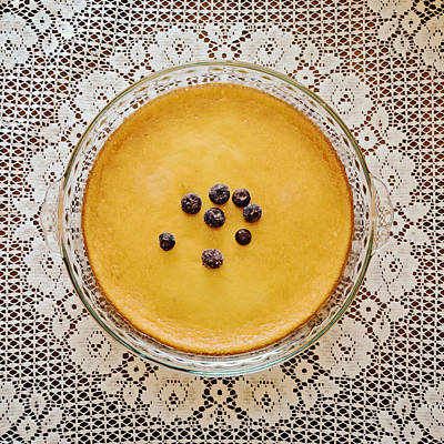 Fruits And Vegetables Still Life - Cheesecake Keto Dessert Plate by Gaby Ethington