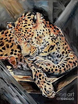 Painting - Cheetah Chitakra  by Maria Reichert