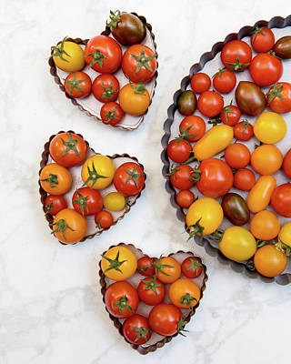 Valentines Day - Cherry Tomatoes 1 by Rebecca Cozart