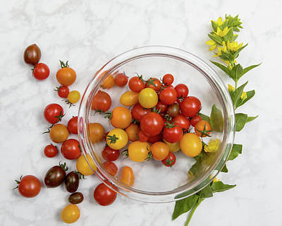 Valentines Day - Cherry Tomatoes 3 by Rebecca Cozart