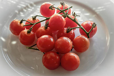 Photograph - Cherry Tomatoes by Alison Frank
