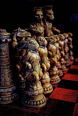 Thomas Kinkade Rights Managed Images - Chess Royalty-Free Image by Cathy Mahnke