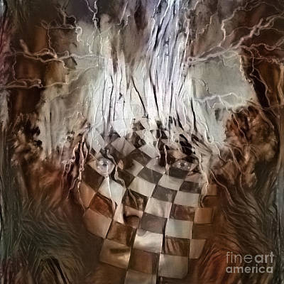 Surrealism Digital Art Rights Managed Images - Chess face Royalty-Free Image by Bruce Rolff