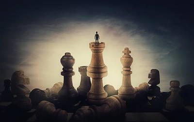 Surrealism Digital Art - Chess Master by PsychoShadow ART