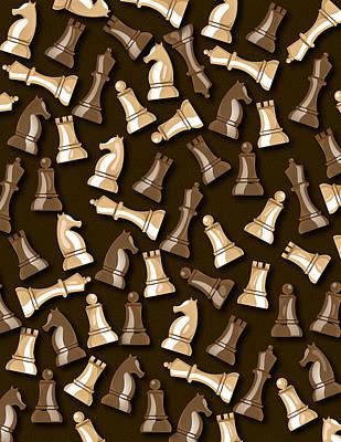 Digital Art - Chess pattern by David Greenaway