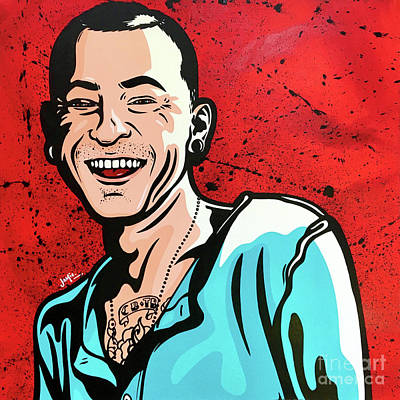 Painting - Chester Bennington by James Lee