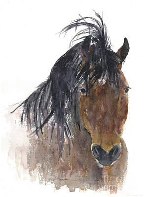 Painting - Chestnut Horse by Claudia Hafner