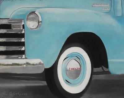 Pastel - Chevy 3100 by Carol Corliss