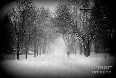 Frank J Casella Royalty-Free and Rights-Managed Images - Chicago Blizzard - Holga by Frank J Casella