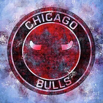 Royalty-Free and Rights-Managed Images - Chicago Bulls Basketball Logo by Drawspots Illustrations