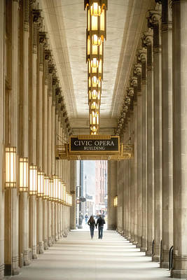 Impressionist Landscapes - Chicago Civic Opera Portico by Chicago In Photographs