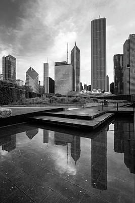 David Bowie Royalty Free Images - Chicago Lurie Garden Royalty-Free Image by Chicago In Photographs