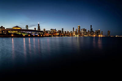 All You Need Is Love - Chicago Skyline and Lake at dusk  by Sven Brogren
