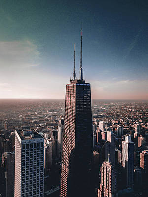 Surrealism Royalty-Free and Rights-Managed Images - Chicago Skyline, Illinois, USA - 19 - Surreal Art by Ahmet Asar by Celestial Images