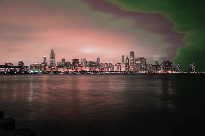 Surrealism Royalty-Free and Rights-Managed Images - Chicago Skyline, Illinois, USA - 25 - Surreal Art by Ahmet Asar by Celestial Images