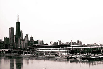 Surrealism Royalty Free Images - Chicago Skyline, Illinois, USA - 29 - Surreal Art by Ahmet Asar Royalty-Free Image by Celestial Images