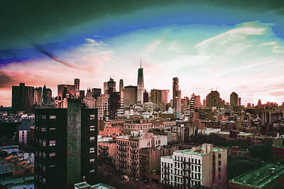 Surrealism Royalty Free Images - Chicago Skyline, Illinois, USA - 3 - Surreal Art by Ahmet Asar Royalty-Free Image by Celestial Images