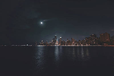 Surrealism Royalty Free Images - Chicago Skyline, Illinois, USA - 38 - Surreal Art by Ahmet Asar Royalty-Free Image by Celestial Images