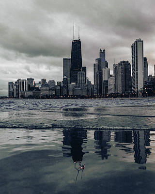 Surrealism Royalty-Free and Rights-Managed Images - Chicago Skyline, Illinois, USA - 4 - Surreal Art by Ahmet Asar by Celestial Images