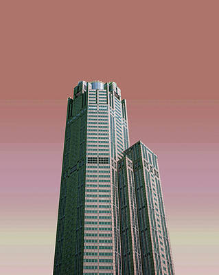 Surrealism Royalty-Free and Rights-Managed Images - Chicago Skyline, Illinois, USA - 40 - Surreal Art by Ahmet Asar by Celestial Images