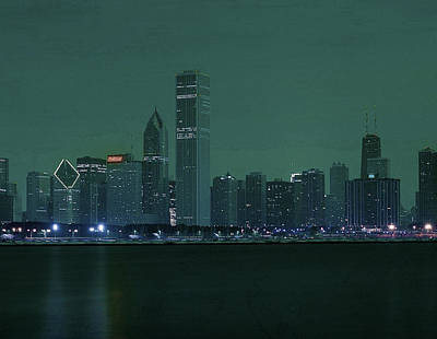 Surrealism Royalty Free Images - Chicago Skyline, Illinois, USA - 6 - Surreal Art by Ahmet Asar Royalty-Free Image by Celestial Images
