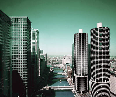 Surrealism Digital Art - Chicago Skyline, Illinois, USA - 7 - Surreal Art by Ahmet Asar by Celestial Images
