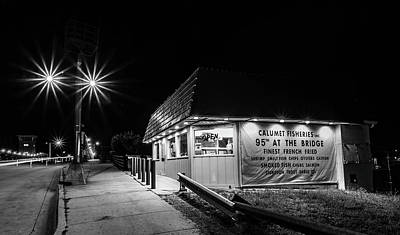 Frank Sinatra Rights Managed Images - Chicagos Calumet Fisheries at night Royalty-Free Image by Sven Brogren