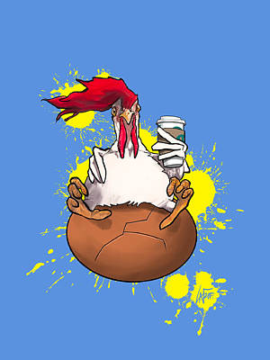 Royalty-Free and Rights-Managed Images - Chicken and the Egg by Canine Caricatures Custom Merchandise
